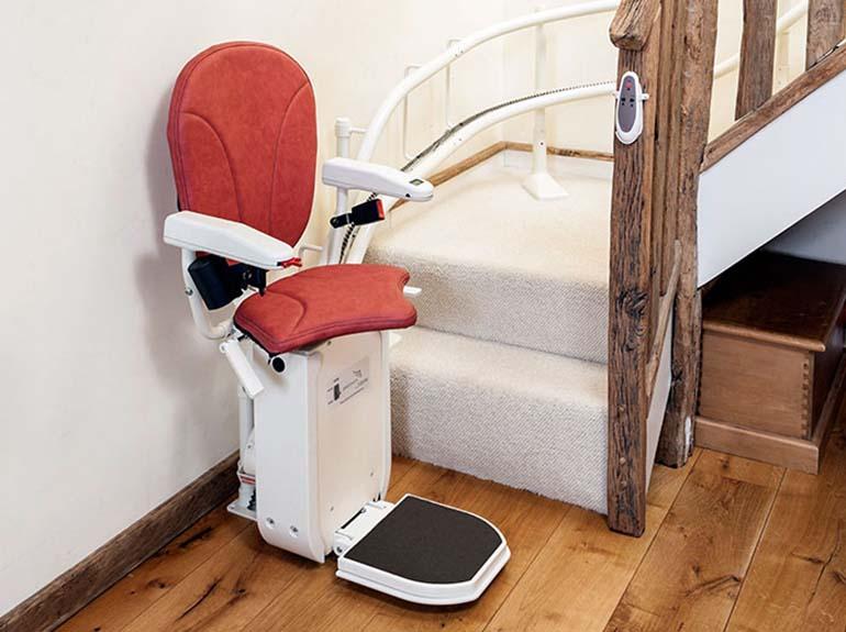 silla salvaescaleras curva